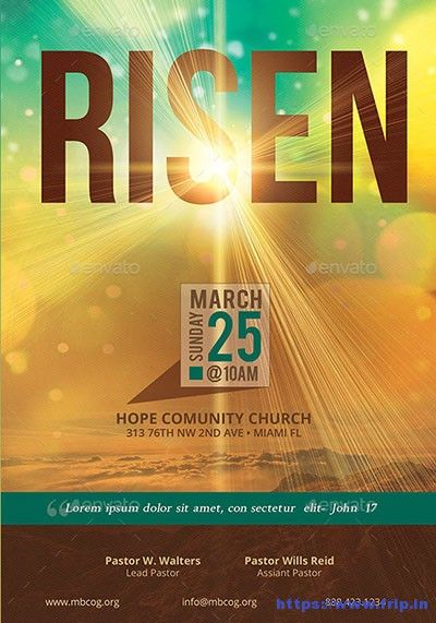35 Best Easter Church Flyer Print Templates 2019 Church remodel