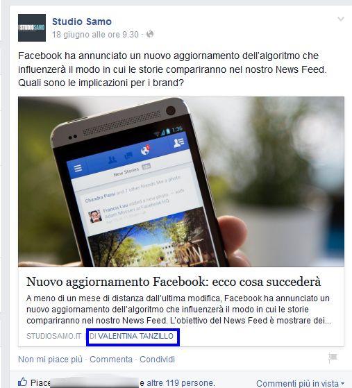 Come impostare la Facebook authorship