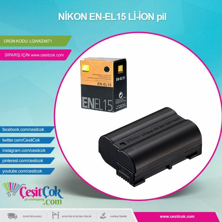 #NİKON EN-EL15 Lİ-İON pil >> http://goo.gl/gnfiMr