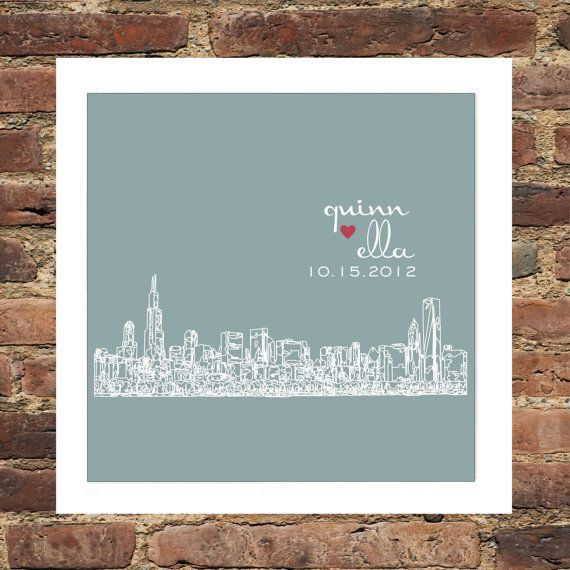 Los Angeles Skyline Personalized FRAMED ART Los by DefineDesign11, $45.00