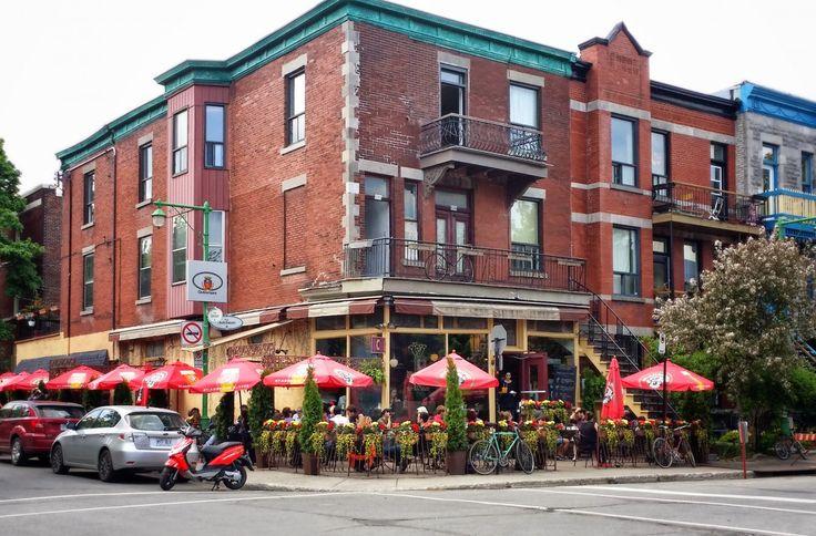 Restaurant, street, bricks, house