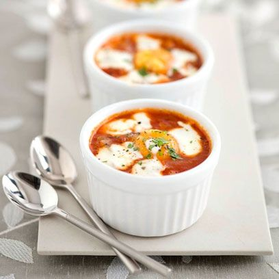Baked Turkish eggs with yoghurt and chilli. Click the picture for the full recipe by John Torode at http://www.redonline.co.uk
