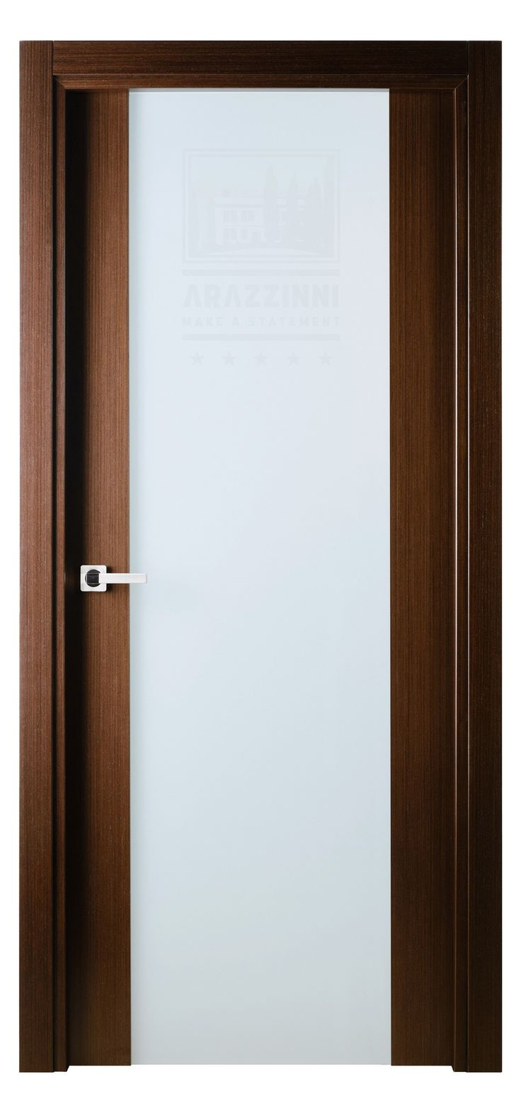 Versai vetro interior door in italian wenge finish for Wood veneer interior doors