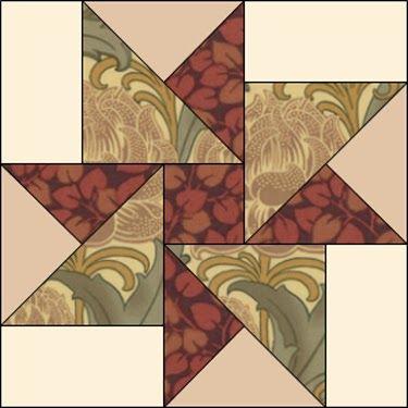 JEANNE Barbara Brackman's MATERIAL CULTURE: Morris Modernized: Hope of Hertfordshire Quilt Pattern