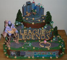 League of Legends Cake by ~MsGhia on deviantART