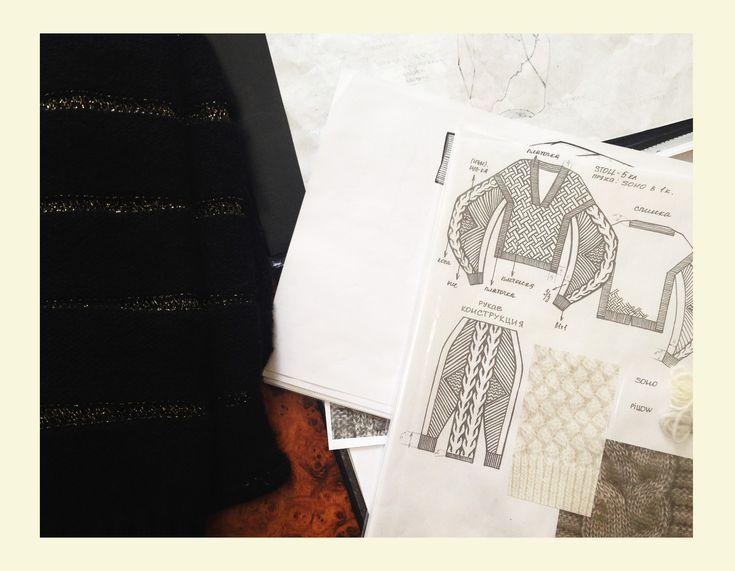 Эскиз изделия из подиумной линии RITO knits