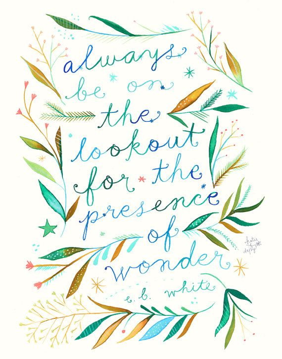 Presence of Wonder     vertical print by thewheatfield on Etsy
