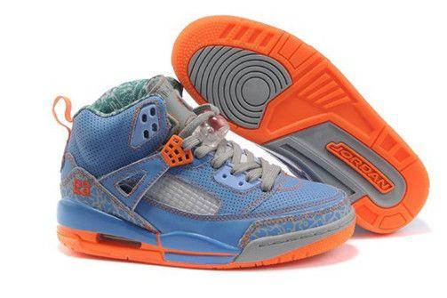 Cheap Durable Spizike Nike Air Jordan 3.5 Blue Orange Womens Shoes On Sale