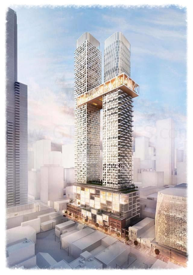 YSL Residences is a proposed two towers of 62 and 73 storeys with 1,106 dwelling units connected by a sky-bridge at 363-391 Yonge Street and 3 Gerrard Street East in Toronto, Ontario by Cresford Development Corporation. Book your Condo here at pocket friendly prices.   #YSLResidences