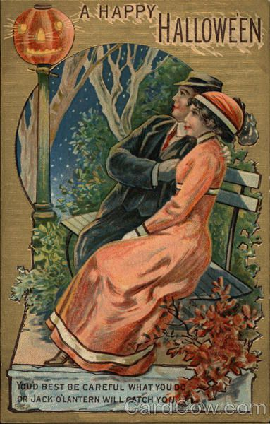 A Happy Halloween Postmark/Cancel:1910 Oct-17 Foster Center, R