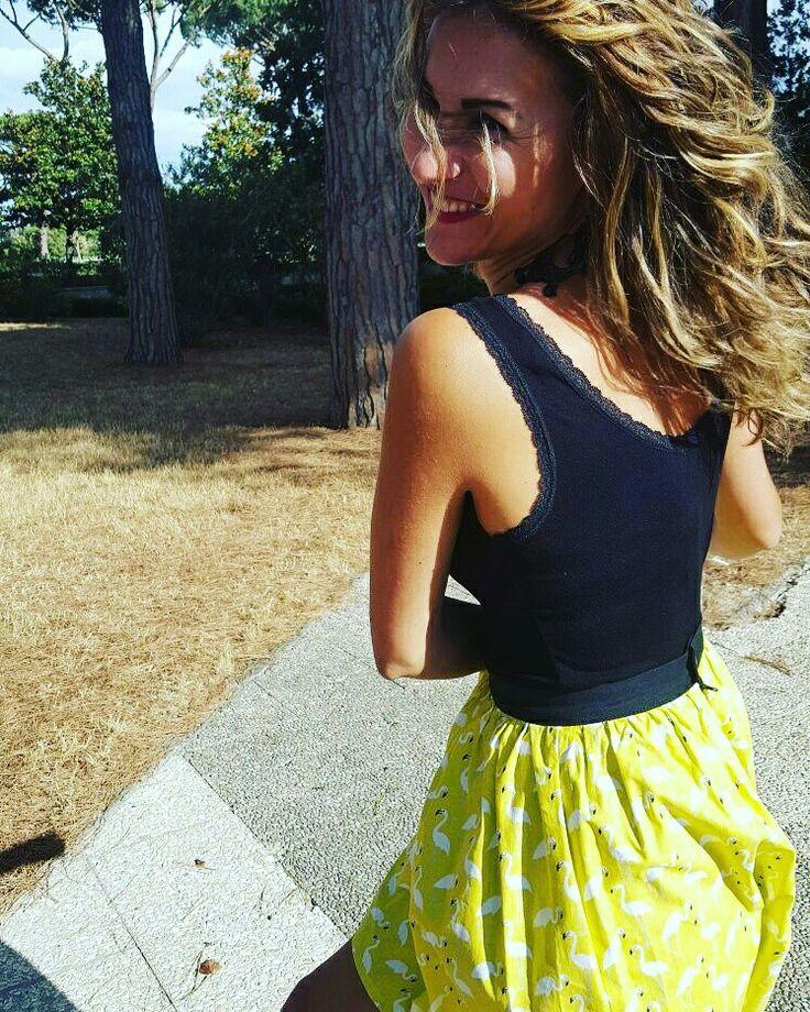 www.iesmode.com #gonna #fenicotteri #Yellow