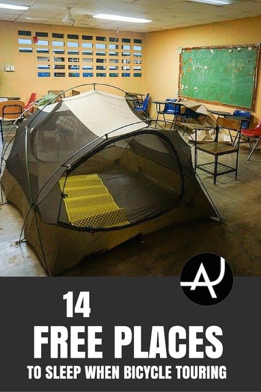 14 Free Places To Sleep When Bicycle Touring – Bike Touring Tips for Beginners – Best Bicycle Touring Gear and Accessories - Articles and Posts About Bike Touring via @theadventurejunkies