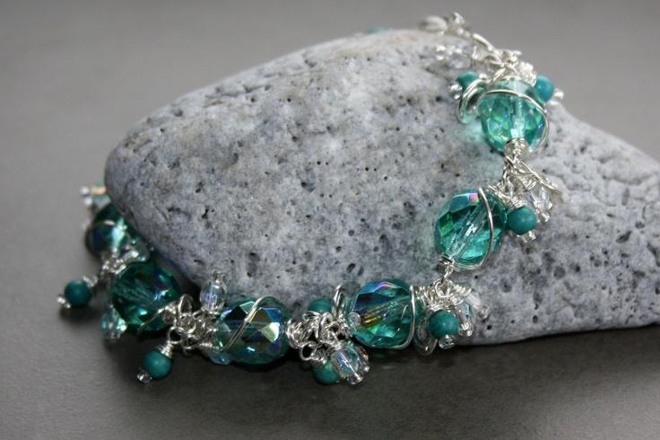 Aqua Dangle Bracelet: Aqua Dangle, Dangle Bracelets