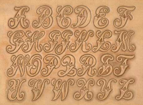 engraving letter templates - 585 best images about leather tracing patterns