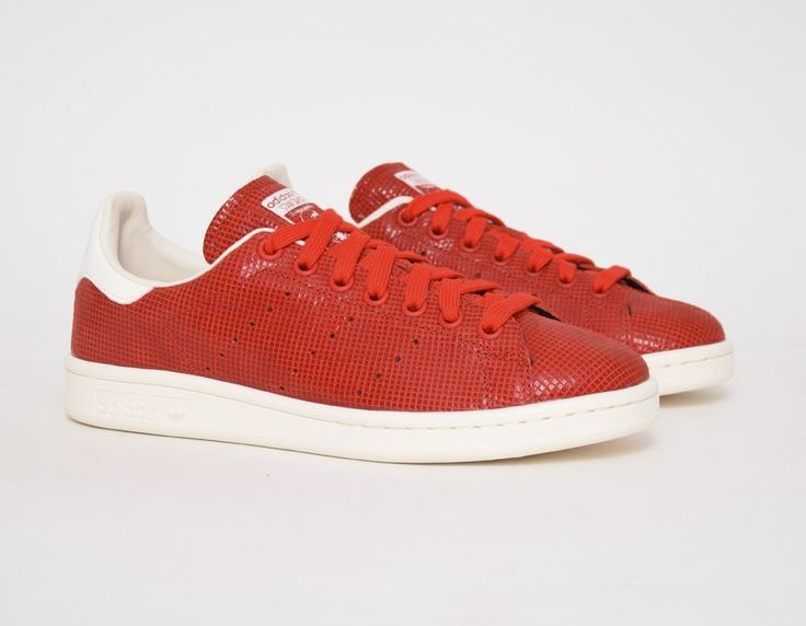 ed0275c23cd80 ... Womens Red Stan Smith Adidas I got these for Christmas!