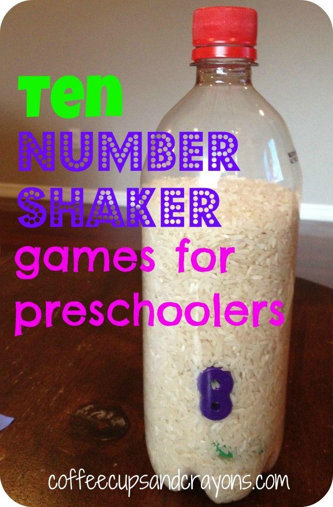 Preschool Number Shaker Games