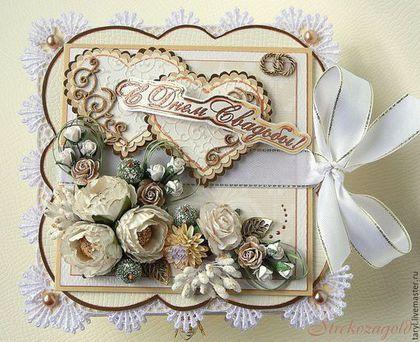 """Свадебные открытки ручной работы. Свадебная коробочка для денег """"Сердца двух""""…"""