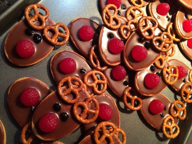 My little reindeer biscuits! So cute!!