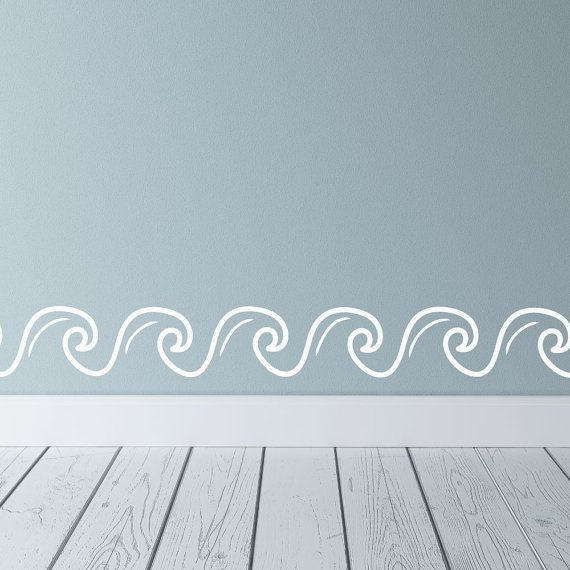 A wave border will be the perfect addition to your nautical wall decor. Our ocean wall decals will look great in a nursery, beach house or any tropical