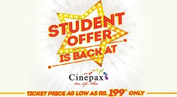 Cinepax Student Offer: Get Ticket for Rs. 199 Only   Cinepax is offering amazing discount deals to the student on its countrywide cinemas. Now the students can enjoy Silver Package of Cinepax for Rs. 1999 only on its many cinemas across the country.  The students can enjoy a movie at Cinepax Cinema for Rs. 199 on cinemas located in following cities:  Faisalabad  Gujranwala  Gujarat  In the following Cinepax Cinemas students can enjoy Cinema Tickets for Rs. 299 only.  Karachi  Lahore…