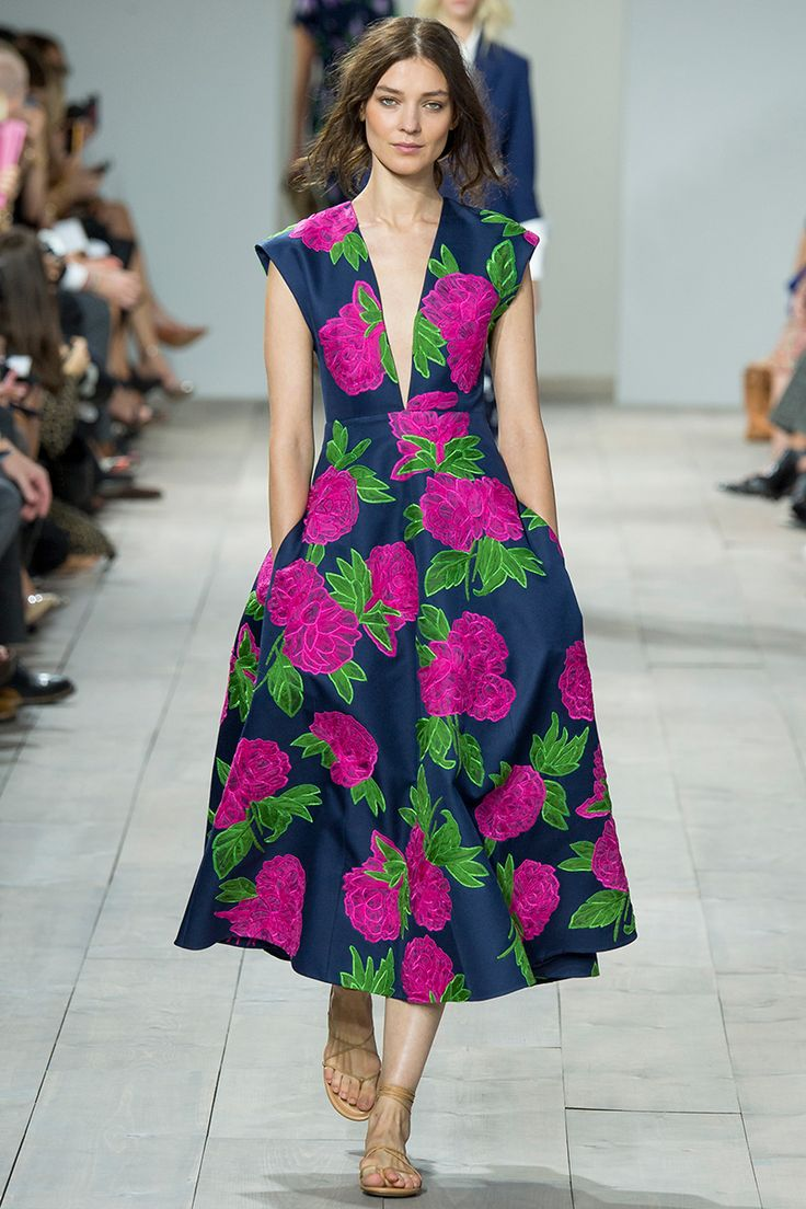 Michael Kors Spring 2015 RTW Floral Print Fashion Trends 2015