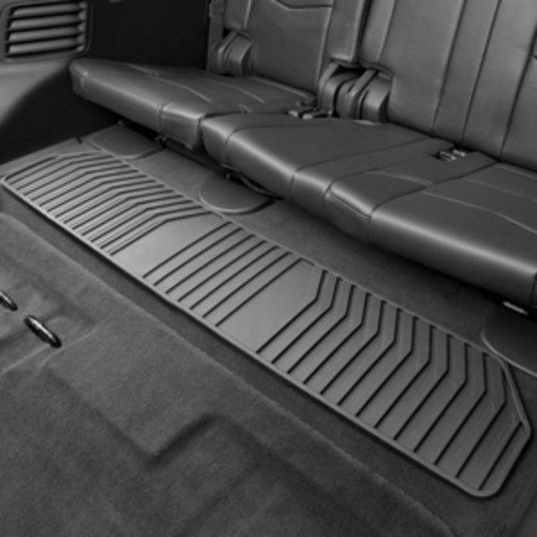 Cadillac Escalade 3rd Row Seats: 2015 Suburban Floor Mats, Premium All Weather, Third Row, Black 22858821