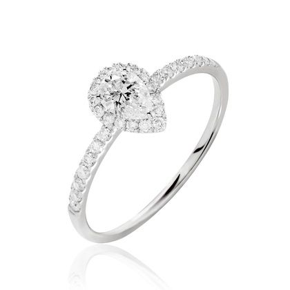 Solitaire Or Blanc Tatiana Diamants