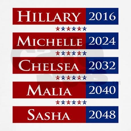 Hillary Clinton 2016 / Michelle Obama 2024 T-Shirt Kids Light T-Shirt $18.99 CafePress.com