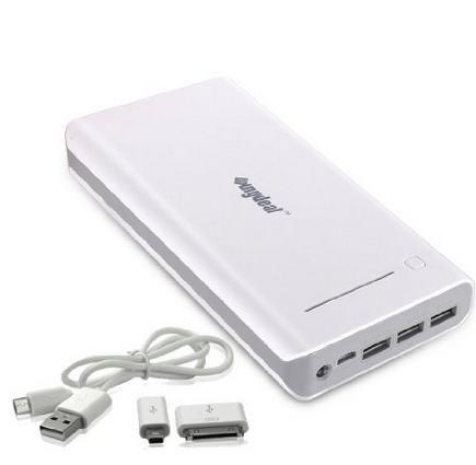 Power Bank Batterie Externe Chargeur 30000mAh, Batterie USB Universal Mobile pour iPhone iPad Mobile Tablet Kamara Batteries (Blanc)