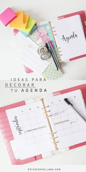 Ideas para decorar tu AGENDA