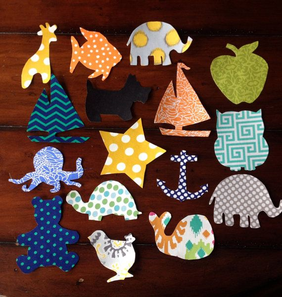 45 Assorted Neutral Baby Iron-on Appliques by LoveDoveBabyDesigns