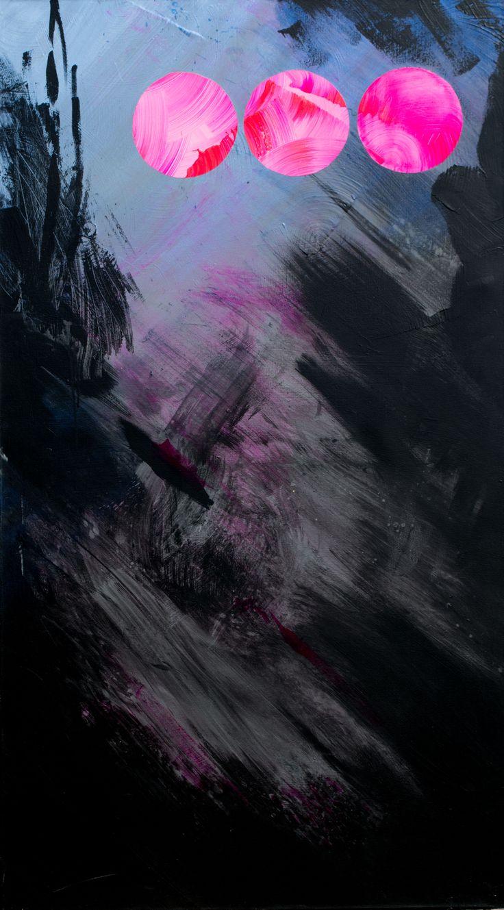 Ex nihilo II. acrylic on canvas; 160x100cm