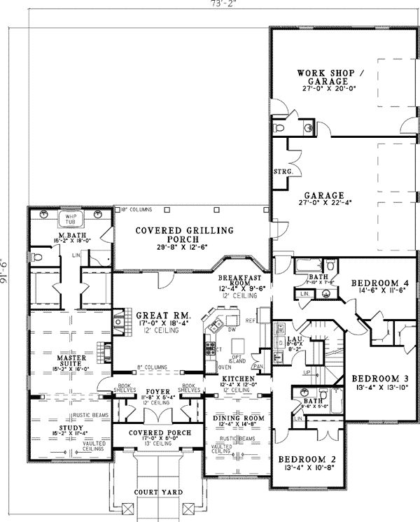 Plan W59857ND: Hill Country, European, Tuscan, Corner Lot House Plans & Home Designs