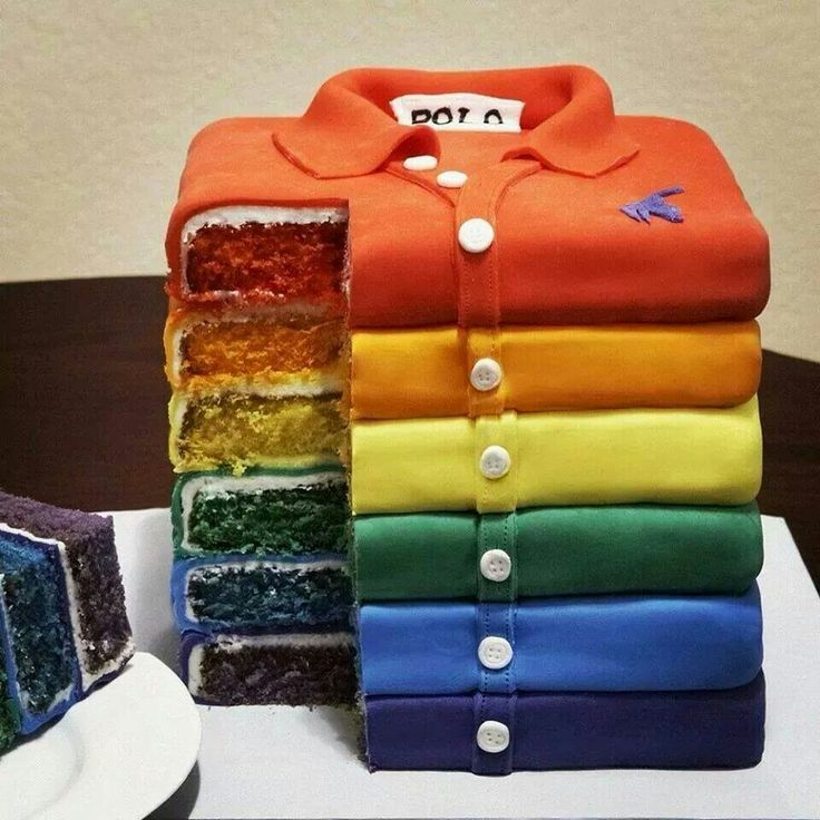 Anyone celebrating a clothing line? Great idea for a cake.