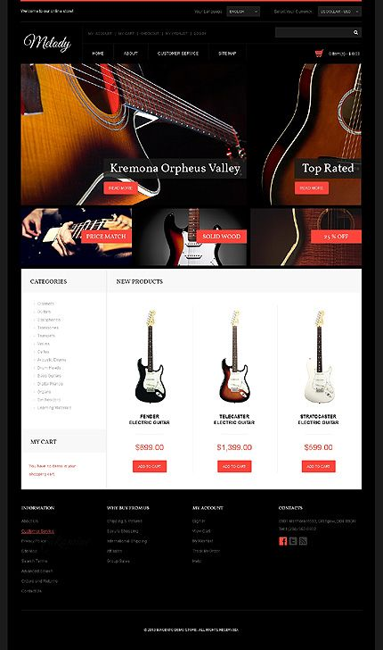 Design gets time... Get Template Espresso! That's Magento #template // Regular price: $162 // Unique price: $2500 // Sources available: .PSD, .XML, .PHTML, .CSS #Magento #Store #Shop #Music #Guitar
