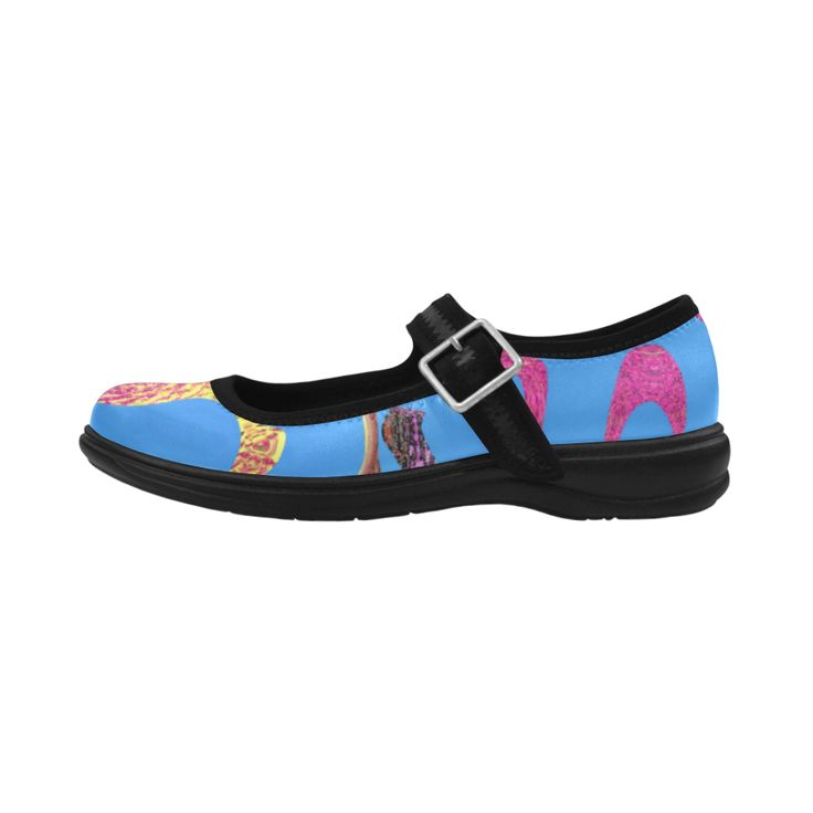splatter fun- in the blue-Annabellerockz Virgo Instep Deep Mouth Shoes.