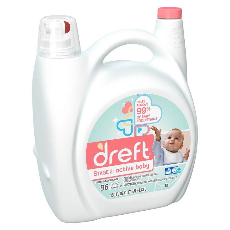 Dreft Stage 2: Active Baby HE Compatible Liquid Laundry Detergent: 150oz, 96 loads