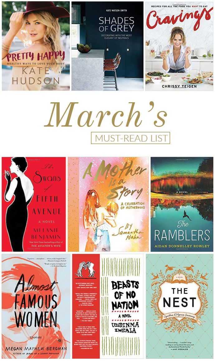 From cookbooks to novels... Our must-read list this month!