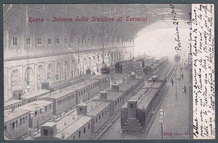 Interno Della Vecchia Stazione Termini 1903 Aaa Foto