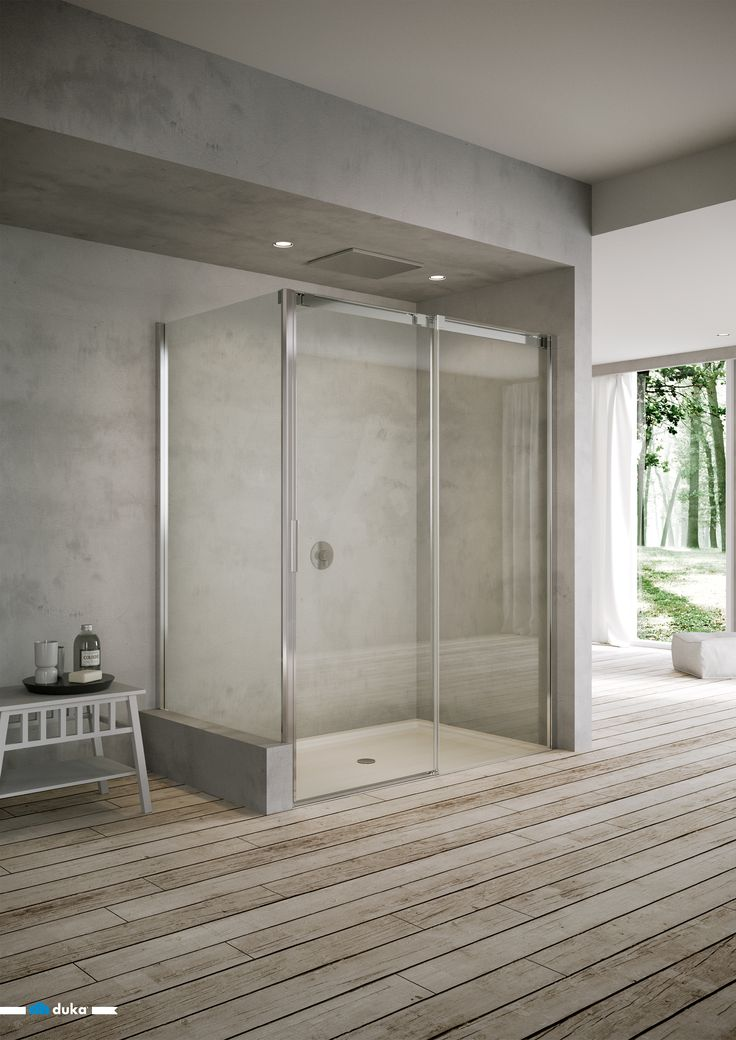acqua R 5000 • this alcove shower enclosure demonstrates steadiness without losing its dynamic touch provided by the smooth movements of the sliding door.