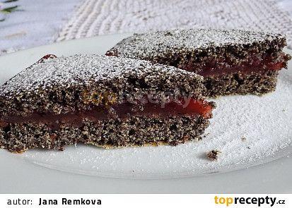 Makový koláč s višňovým krémem recept - TopRecepty.cz