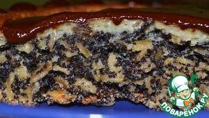 Хрустящий маковый пирог с овсяными хлопьями