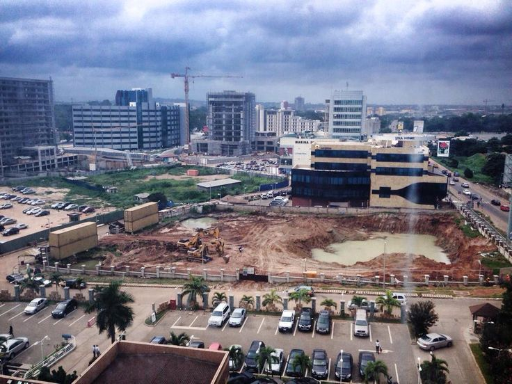 View from the hotel. Accra, Ghana under construction