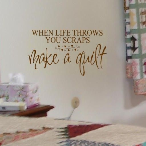 Make A Quilt - craft saying vinyl wall decal lettering. $14.00, via Etsy.