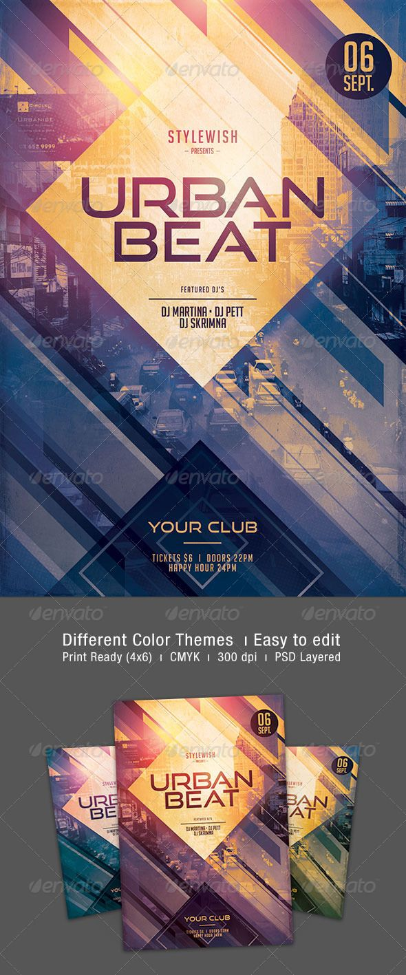 best images about flyer templates dj party urban beat flyer