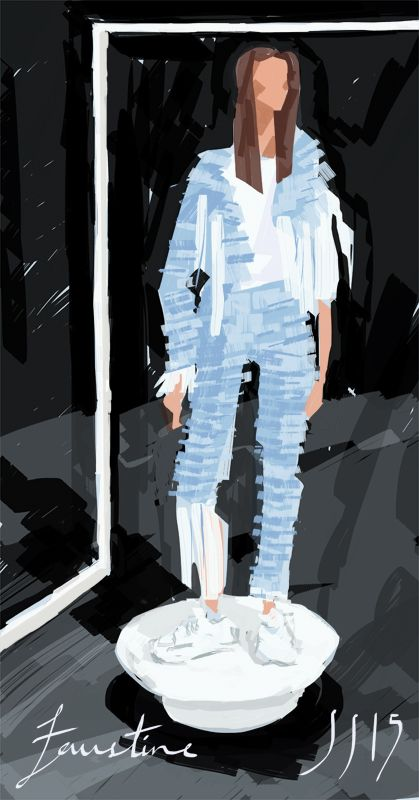 Faustine Steinmetz SS15 - fashion illustration by David Andrews