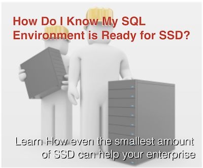 SQL Databases of almost any size should be a top consideration for SSD integration. Because of the granularity of the database structure small components of the database can be moved to SSD, reducing the overall SSD investment. In this article, Storage Switzerland's Lead Analyst, George Crump discuss how to determine which of those components should be on SSD.  http://storageswiss.com/2014/01/21/how-do-i-know-my-sql-server-environment-is-ready-for-ssd/