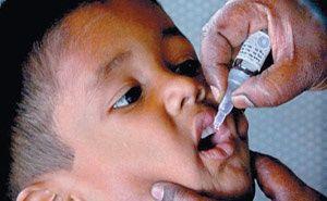 President Pranab Mukherjee Saturday launched a pulse polio immunization programme by administering polio drops to children at Rashtrapati Bhavan.