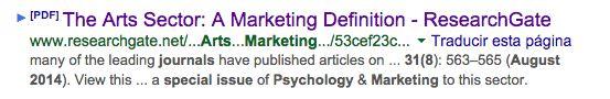 The Arts Sector: A Marketing Definition - ResearchGate  https://www.google.es/url?sa=t&rct=j&q=&esrc=s&source=web&cd=1&ved=0CCMQFjAA&url=http%3A%2F%2Fwww.researchgate.net%2Fprofile%2FFrancois_Colbert%2Fpublication%2F263776354_The_Arts_Sector_A_Marketing_Definition%2Flinks%2F53cef23c0cf2fd75bc59ac9e&ei=81l_VICtO83saquOgegH&usg=AFQjCNGnqkMX9NcLU8-YL8jPm3ZVBBRz5A&sig2=yYo6MJjbf9Ic-ZIj05rPyg&bvm=bv.80642063,d.d2s