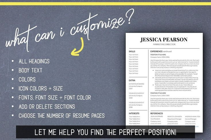 Clean Resume Template /Word /Mac PC by LevelUpResume on @creativemarket